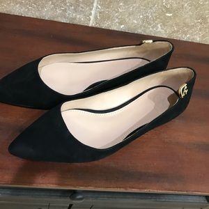 Size 7 Tory Burch black suede flats